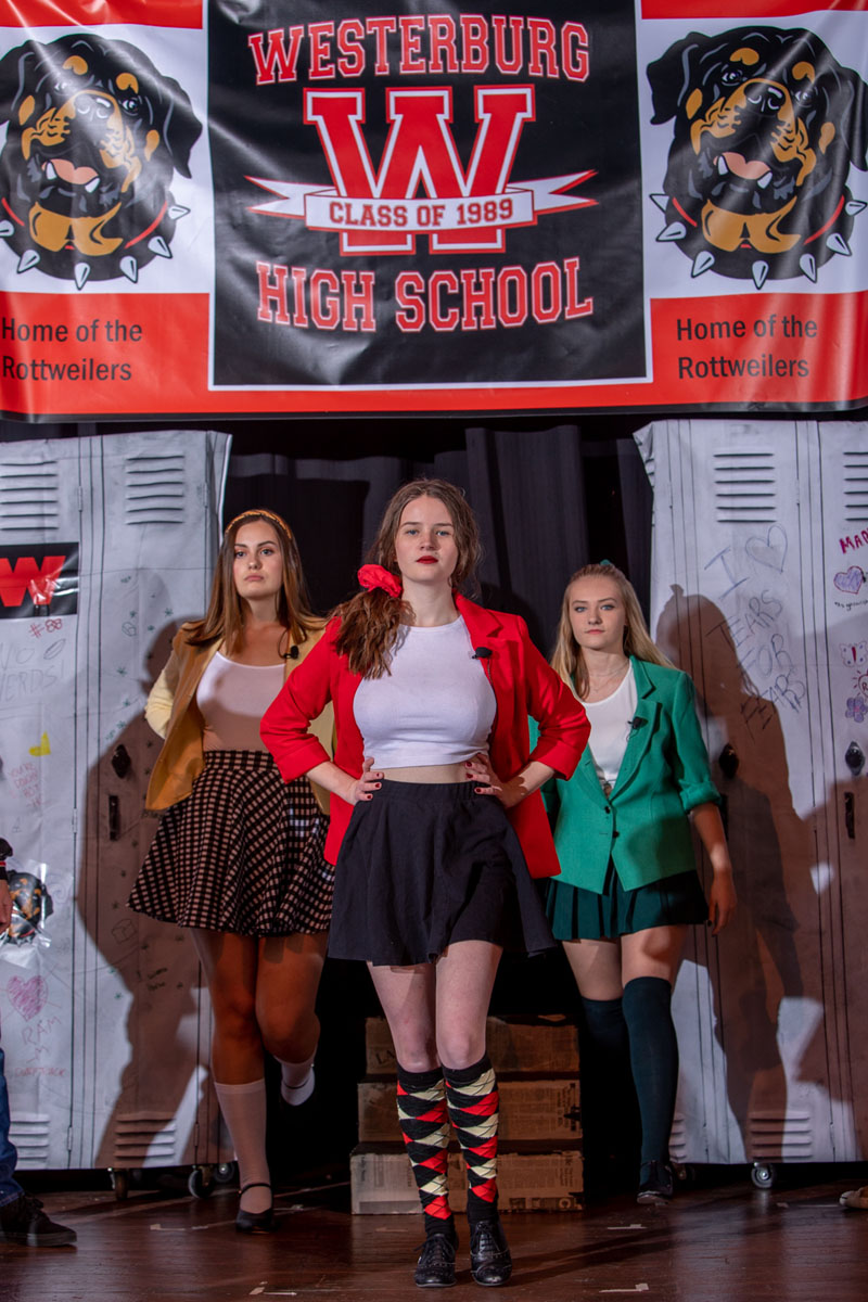 Cast members from FAME rehearse Heathers the Musical on October 29, 2019 at Coconino High School in preparation for the November 1, 2019 performance. Photo by Sean Openshaw, www.SeanOpenshaw.com
