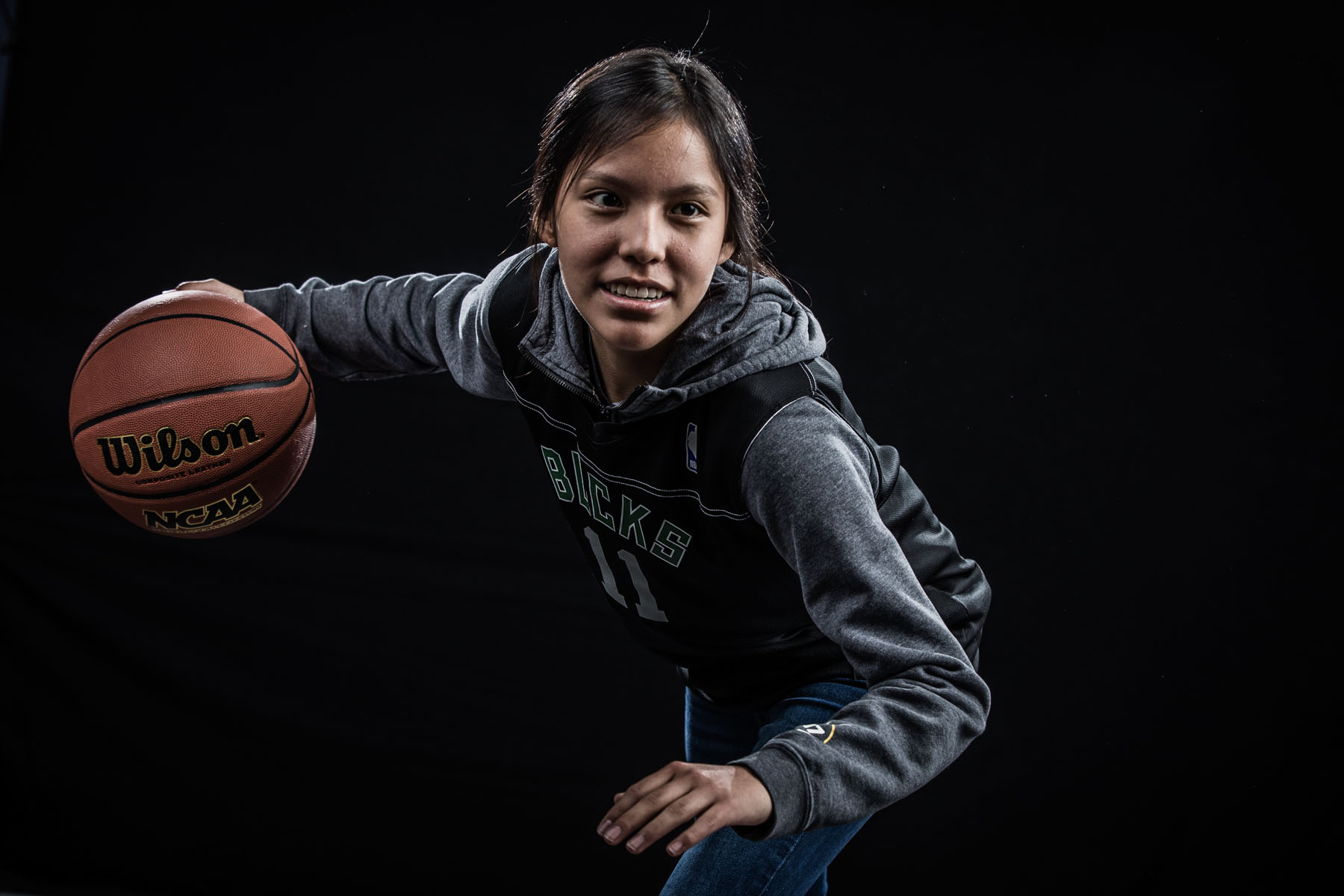 Prime Time Athletics Flagstaff basketball team photo on February 22, 2020. Photo by Sean Openshaw Photography.