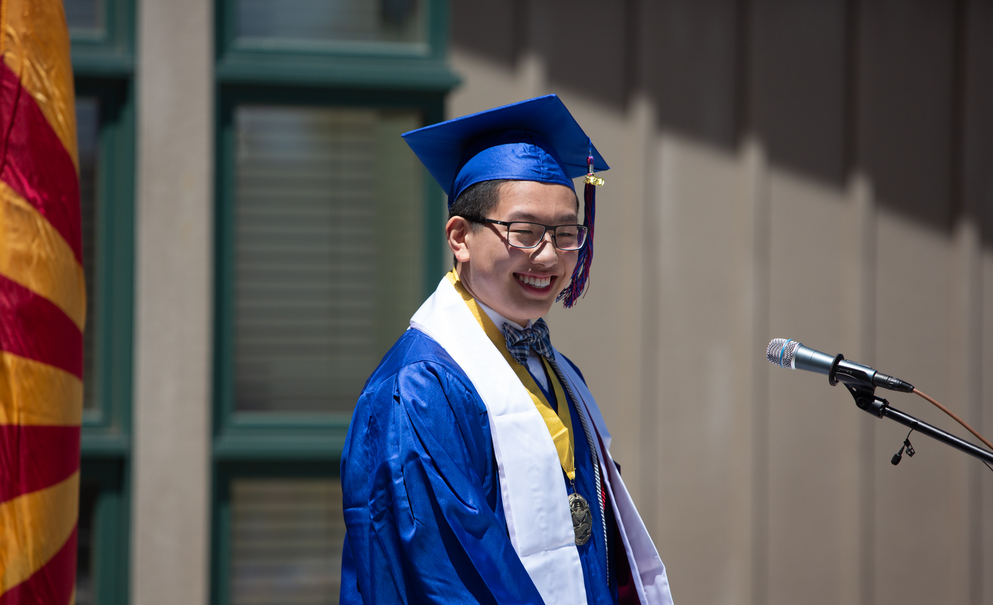 The Northland Preparatory Academy Class of 2020 had a modifiied graduation ceremony due to the Coronavirus on May21, 2020. Photo by Sean Openshaw / www.SeanOpenshaw.com